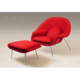 Conjunto Womb Chair Suede Varias Cores
