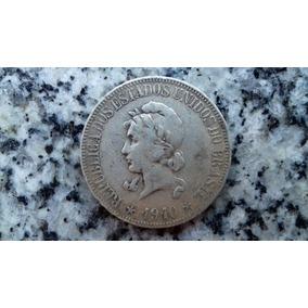 Moeda Prata Brasil República 1000 Réis 1910 Frete Grátis