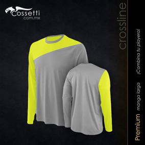 Camiseta Cuello Redondo Manga Larga Crossline Tecno Dri 31ec12ea38b8b