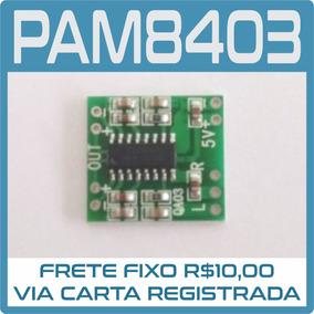 5 Módulo Amplificador Stereo Som 2ch 3w+3w Pam8403 Arduíno
