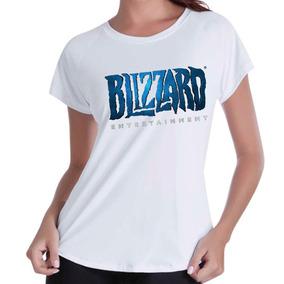 90546e11c8 Camiseta Babylook Feminina - Games Blizzard