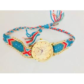3870fb04c39 Relógio Gucci Tiger Aro Dourado Original · Relógio Pulso Filtro Dos Sonhos.  Colorido Hippie Artesanal