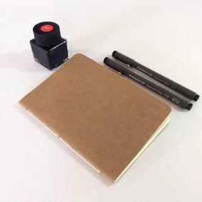 Caderno Artesanal Kraft A6