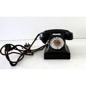 Telefone Antigo Preto Original G E C Made In England