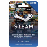 Cartão Presente Steam Gift Card R$ 200 Reais - Envio Digital