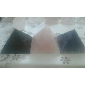 3 Piramides Quartzo Rosa Verde E Azul