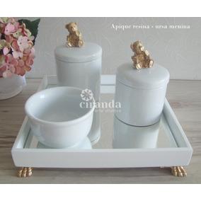 76088c5f1 Kit Higiene Bebe Porcelana Menino - Quadros Decorativos no Mercado ...
