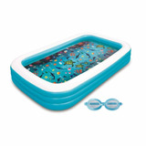 Alberca Familiar Inflable 3d Summer Waves