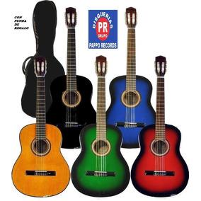 Guitarra Criolla Clásica +2 Púas + Funda + Envío Gratis