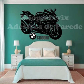 Adesivo De Parede Bmw S1000rr Moto Sportiva Superbike Quarto