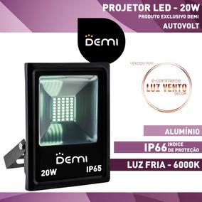 Projetor Refletor Holofote Led 20w 6500k Autovolt Demi