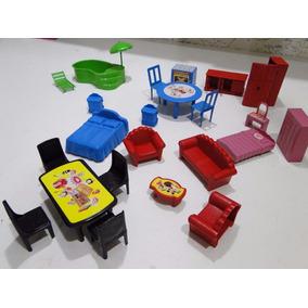 Mini Moveis Casa Boneca Peppa Polly Lego Simpsons Playmobil