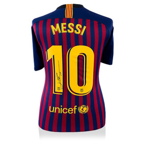 Playera Del Barcelona Firmada Por Messi en Mercado Libre México 7501092d4b1