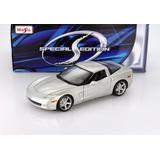 Corvette Coupe Plateado Maisto 1/18 2005. Nuevo