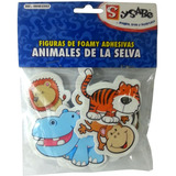 Figuras De Foamy Full Color Animales De La Selva