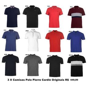 Camisa Pierre Cardin Plus Size - Pólos Manga Curta Masculinas no ... 68bd53abca043