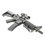 Rifle Airsoft M4, Resorte, Tiro A Tiro 330 Fps, 8907a Nuevo