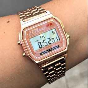 194ea299a54 Relogio Cassio Rose Gold - Relógio Casio Unissex no Mercado Livre Brasil