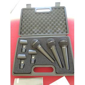 Kit De 03 Microfones Behringer Xm 1800s Com Botão On/off