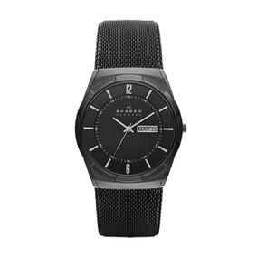 Reloj Caballero Skagen Melbye Skw6006 Color Negro De Titanio