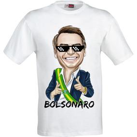 Camiseta Bolsonaro Feminia E Masculina Caricatura 25,90