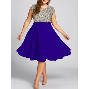 215716b0f0555 Vestido Lame Dorado - Vestidos en Mercado Libre Colombia