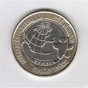 Moeda 1 Real 1998 Comemorativa Direitos Humanos Sob / Fc ++