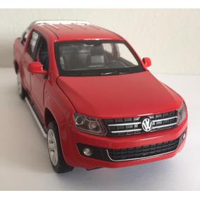 Miniatura Volkswagen Amarok C Luz E Som Vermelho 1:30