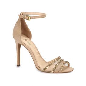 20bc8be09d Sandalia Salto Lara Bege Feminino - Sapatos no Mercado Livre Brasil