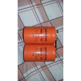 Capacitor 10.000/70v Ac Da Siemens Bom P/ Amplificador