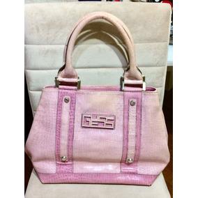 Bolsa Guess Original Rosa Pink Brinde Sacola Gap Promoção