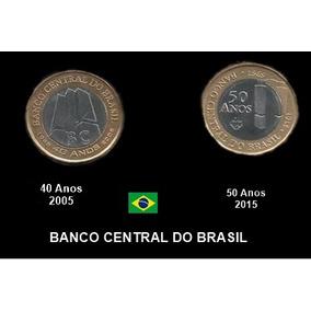 Moeda Comemorativa Do Banco Central Do Brasil - 40 E 50 Anos