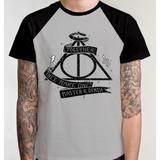 Camiseta Raglan Harry Potter Filme Camisa Blusa Relíquias