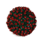Topiario 28cm Esfera Bola Follaje Sintético Decoración Muro