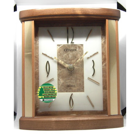 Reloj De Cornisa Citizen De Madera Genuina Oferta Hermoso!!
