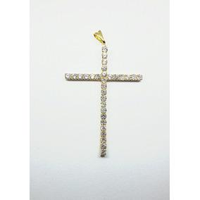 Crucifixo Brilhantes Ouro - Joias e Relógios no Mercado Livre Brasil 2da27267ed