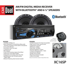 Reproductor Dual Electronics Xc16sp Lcd Bluetooth + Cornetas