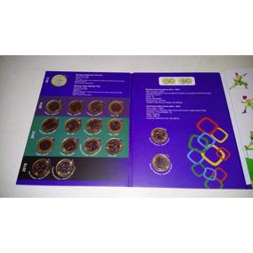 Coleção Completa Com 16 Moedas Das Olimpíadas
