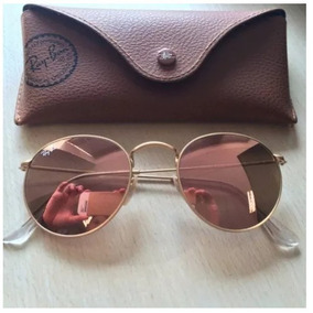 ca60d5332461b Oculos Redondo Espelhado Rose - Óculos no Mercado Livre Brasil