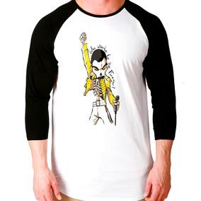 545ab6fe1d619 Camiseta Freddie Mercury - Camisetas Manga Longa no Mercado Livre Brasil