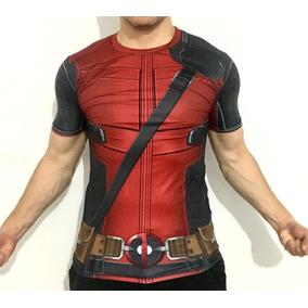 Playera Deadpool Crossfit Cosplay Marvel Avengers Dc Com