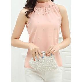 36f31bb927 Clutch Perola Rosa - Camisetas e Blusas no Mercado Livre Brasil