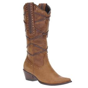 244ca3cc77c91 Cano Alto West Country Bota Texana Feminina Bico Fino C - Sapatos no ...