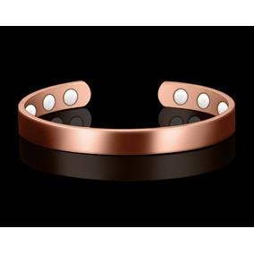 Pulseira Bracelete Cobre Magnética Lisa Ouro Super Oferta