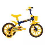 Bicicleta Infantil Track Bikes Arco-íris, Azul, Aro 12
