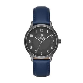 Reloj Caballero Chaps Chp5052 Color Azul De Piel