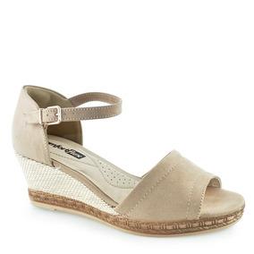 bbb2ba88bf Sandalia Sapato Salto Anabela Barato Feminino Comfortflex - Sapatos ...