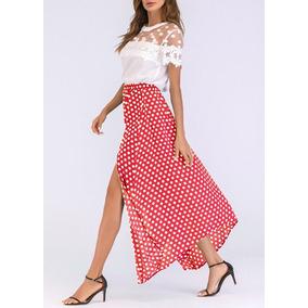 b24bd0ee586bb Vestido Rojo Lunar Blanco - Vestidos Largos de Mujer en Mercado ...