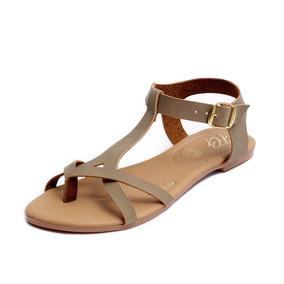 Zapatos Sandalias Huaraches Dama Zapatillas Moda Café 1204