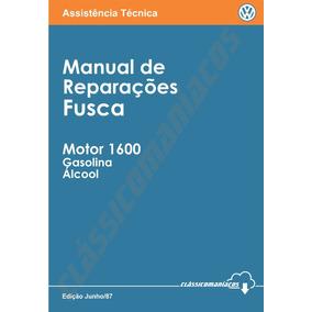 Manual Reparação Serviço Motor 1600 Gas Àlc Vw Fusca